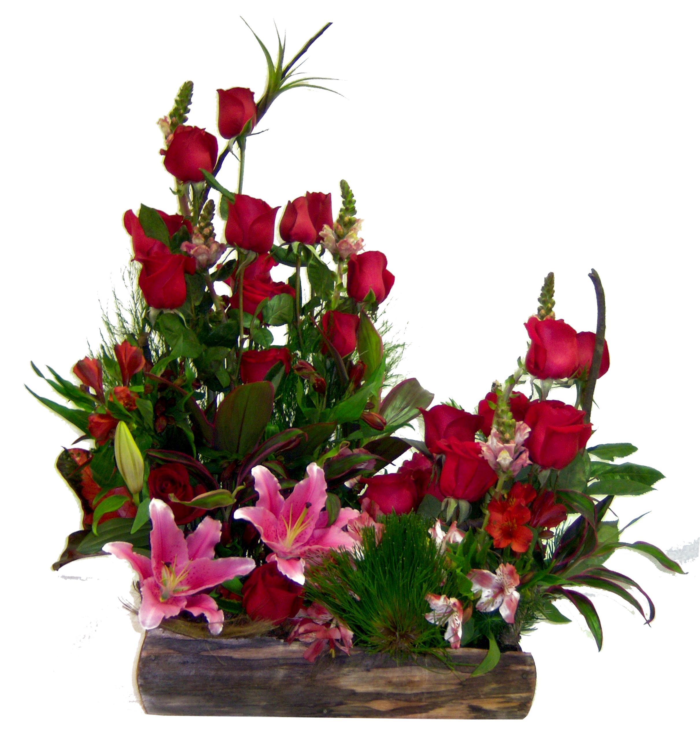 jardinera de rosas-enviar flores venezuela